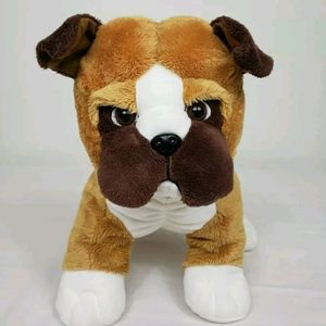 "Melissa And Doug Boxer Puppy 10"" Plush Dog Brown"
